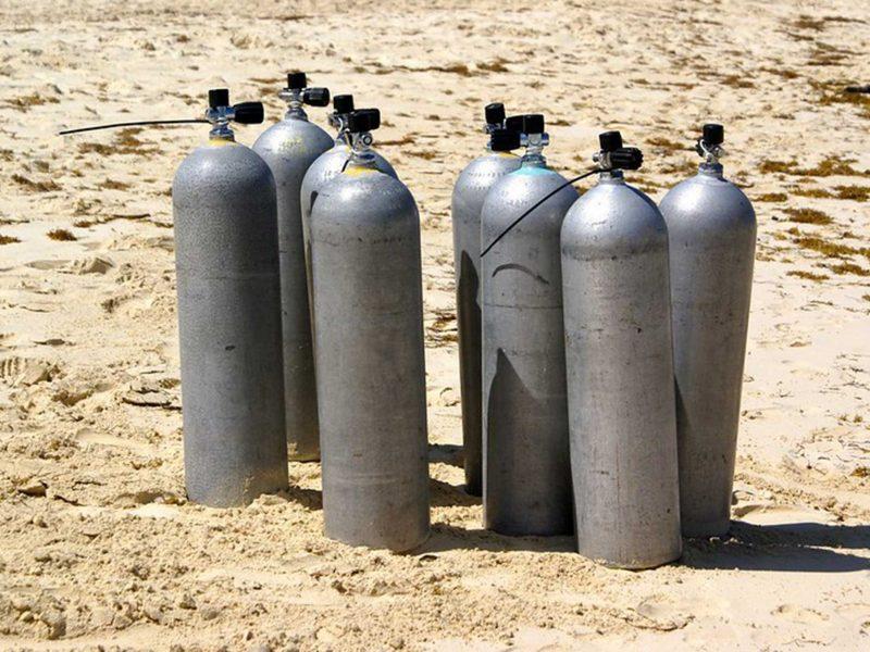 Botellas de buceo